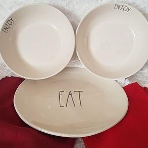 RAE DUNN Plate and Bowl